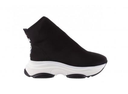 Sneakersy Bayla-155 001-002 Czarne Sneakersy 19, Czarny, Materiał