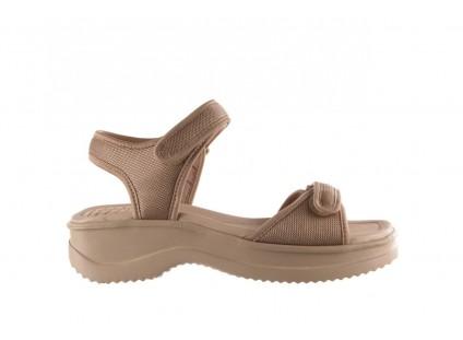 Sandały Azaleia 320 321 Beige Sand 20, Beż, Materiał