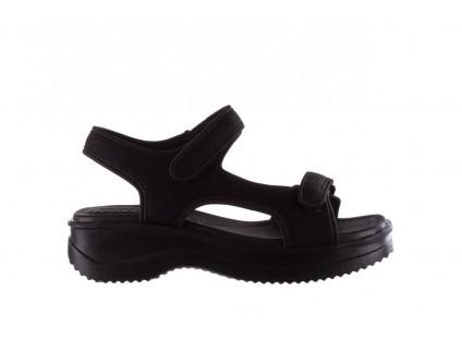 Sandały Azaleia 320 323 Black Black 20, Czarny, Materiał