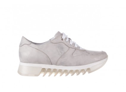 Sneakersy Bayla-185 185 105 Srebrny, Skóra naturalna