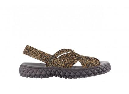Sandały Rock Dakota 22 Leopard, Brąz, Materiał