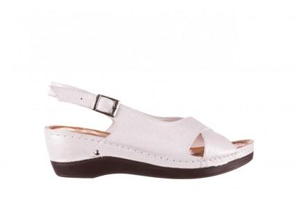 Sandały Bayla-112 0158-58 Biały, Skóra naturalna