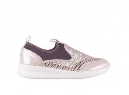 Sneakers Bayla-112 0372-075 Srebro, Skóra naturalna/ Materiał
