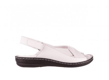 Sandały Bayla-112 0277-411-453 Biały, Skóra naturalna