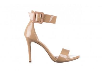 Sandały Bayla-065 6189496 Beż, Skóra naturalna lakierowana