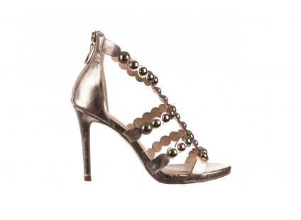 Sandały Bayla-065 6189495 Złoty, Skóra naturalna