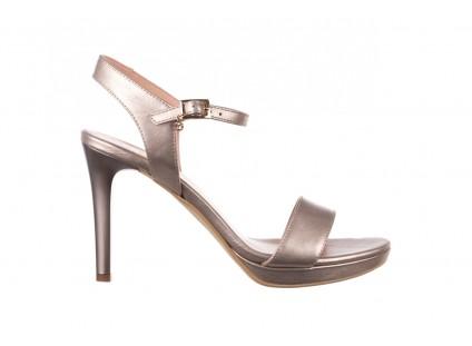 Sandały Bayla-056 9163-1099 Beż Perła, Skóra naturalna