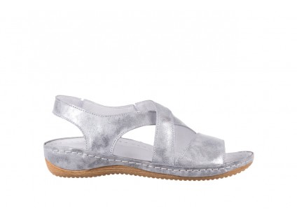 Sandały Bayla-100 449 Srebrny, Skóra naturalna