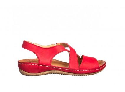 Sandały Bayla-100 449 Czerwony, Skóra naturalna