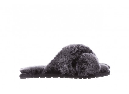 Klapki Emu Mayberry Frost Black, Czarny, Futro naturalne
