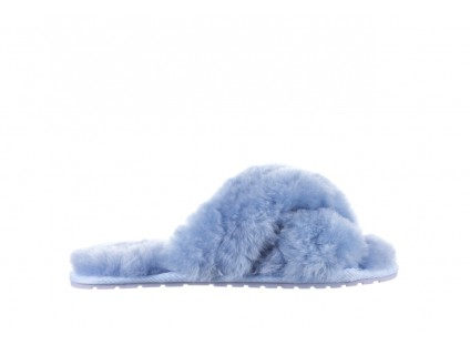Klapki Emu Mayberry Baby Blue, Niebieski, Futro naturalne