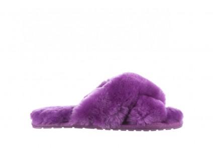 Klapki Emu Mayberry Purple, Fiolet, Futro naturalne