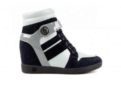 Sneakersy Armani jeans B55M1 Multicolor, Wielokolorowe, Skóra naturalna