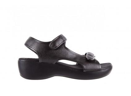 Sandały Azaleia 346 602 Perf Black, Czarny, Materiał