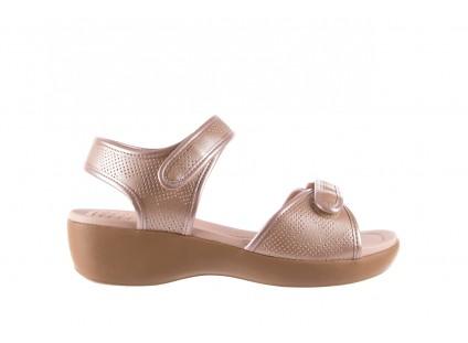 Sandały Azaleia 346 601 Perf Iguan, Beż, Materiał