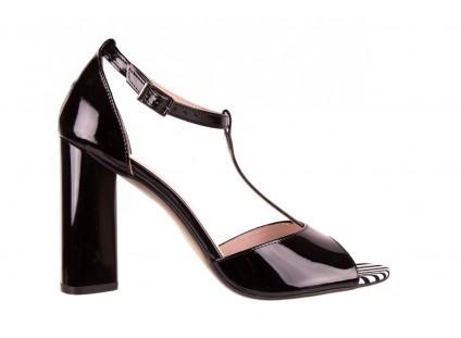 Bayla-097 08 Czarno - Białe Sandały