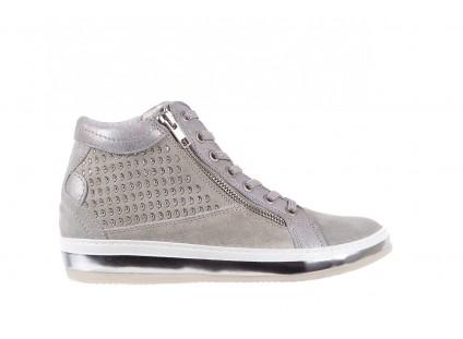 Sneakersy Bayla-131 1217 Perla, Szary, Skóra naturalna