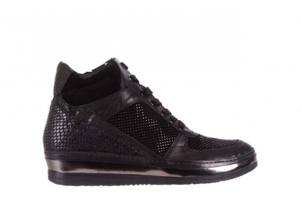 Sneakersy Bayla-131 4010 Nero, Skóra naturalna