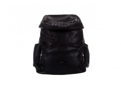 Plecak Bayla-150 Plecak S16-278 Black, Czarny, Skóra ekologiczna