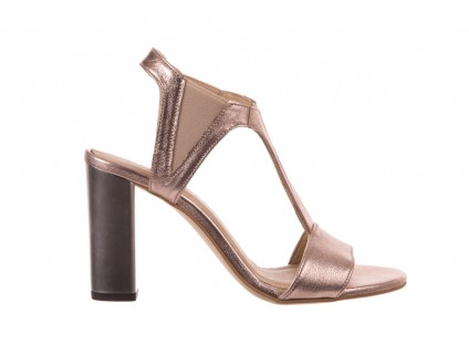 Sandały Bayla-157 B005-091-B Złoty-Róż, Skóra naturalna