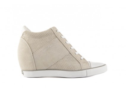 Calvin Klein Jeans Voss Perf Suede Smooth White
