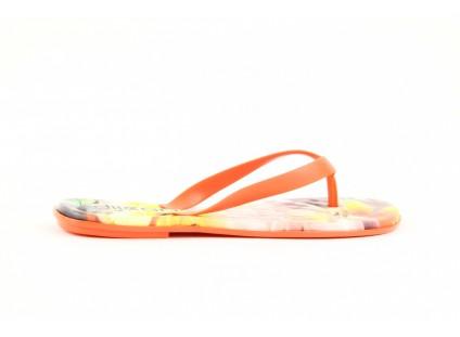 Klapki Dijean 261 662 Tangerine-Flowr, Pomarańczowy, Guma