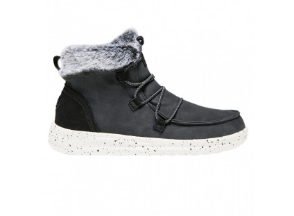 ŚniegowceHeyDude Eloise Black 003193, Czarny, Skóra naturalna