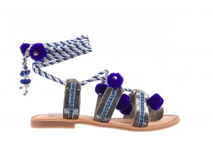 Sandały Gioseppo Yurak Blue, Granat, Skóra naturalna