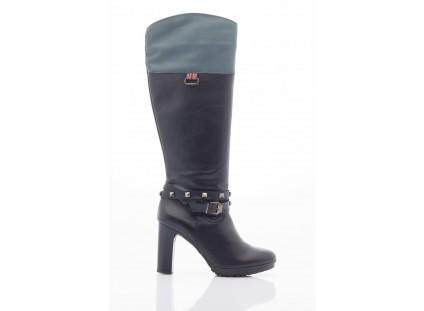 Kozaki Pepe Jeans PFS50351 999 Black, Czarny, Skóra naturalna