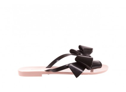Klapki Melissa Harmonic Bow III AD Pink Black, Róż/Czarny, Guma