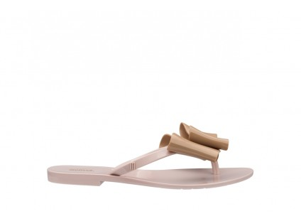 Klapki Melissa Harmonic Bow IV Ad Pink Beige, Róż/Beż, Guma