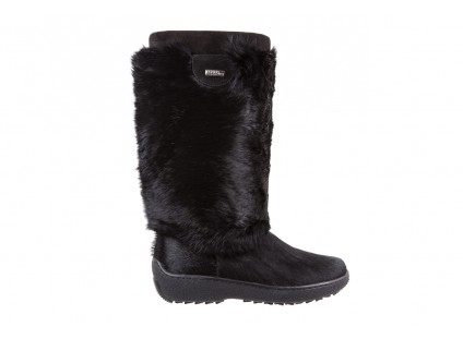 Śniegowce Oscar Norma L1 Black, Czarny, Futro naturalne