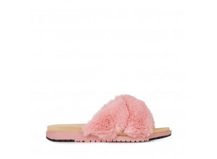 Klapki Emu Mareeba Dusty Pink, Róż, Futro naturalne