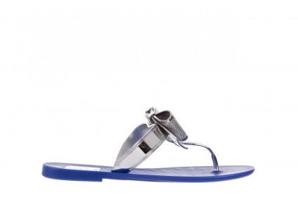 Klapki T&G Fashion 22-116 Dark Blue, Granat/ Srebro, Guma