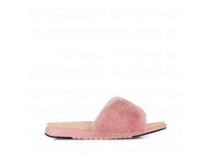 Klapki Emu Robe Dusty Pink, Róż, Futro naturalne