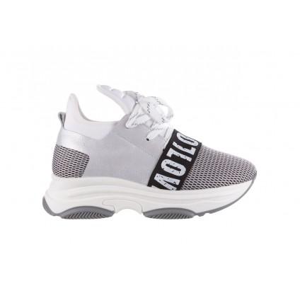 Sneakersy Bayla-155 385-2800 Popielate, Materiał