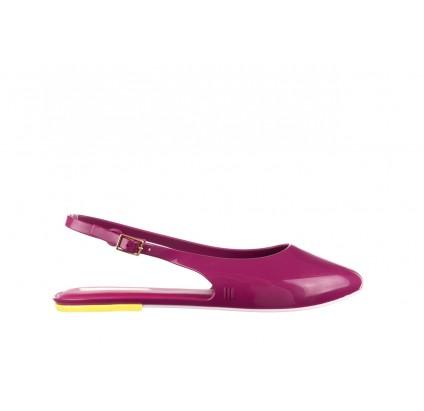 Sandały Melissa Lipstick Ad Pink White Yellow, Róż, Guma