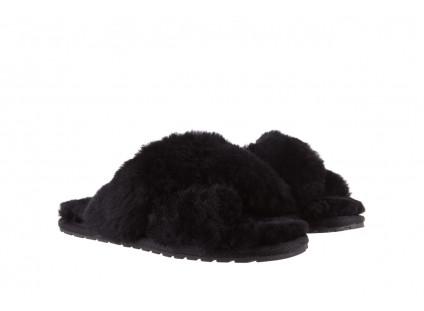 Kapcie Emu Mayberry Black 21 119127, Czarny, Futro naturalne