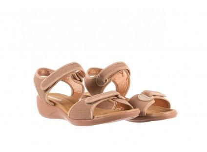 Sandały Azaleia 322 363 Nobuck Beige, Beż, Materiał