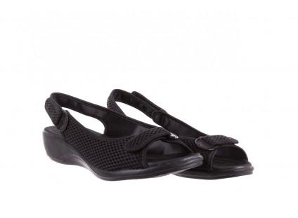 Sandały Azaleia 322 261 Black, Czarny, Materiał