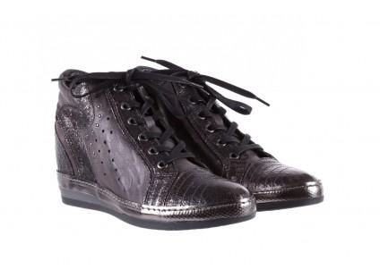 Sneakersy Bayla-131 7109 Grey, Szary, Skóra naturalna