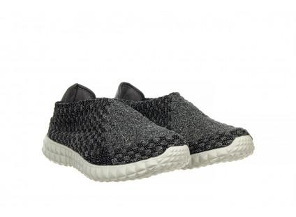 Półbuty Rock Ikai Glam Cashmere 032841, Czarny/Biały, Materiał