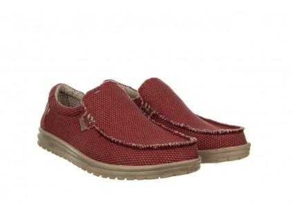 Półbuty HeyDude Mikka Braided Pompeian Red 003215, Czerwony, Materiał