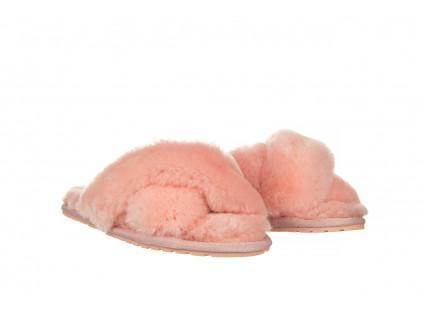 Kapcie Emu Mayberry Baby Pink 119132, Róż, Futro naturalne