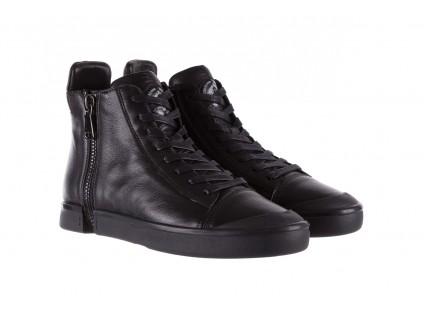 Sneakersy John Doubare M5761-1 Black, Czarny , Skóra naturalna