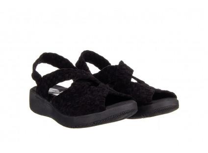 Sandały Rock Minily Black Cashmere 032847, Czarny, Materiał