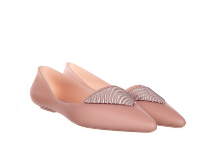 Baleriny Melissa Pointy IV AD Pink 010349, Róż, Guma