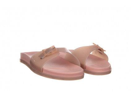 Klapki Melissa Wide Slide AD Soft Pink Pink Transparent 010360, Róż, Guma