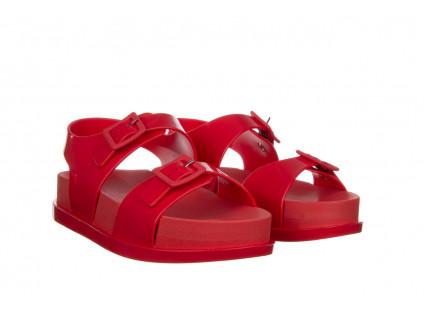 Sandały Melissa Wide Platform AD Red 010363, Czerwony, Guma