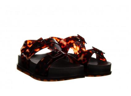 Sandały Melissa Wide Platform AD Black Turtoise 010362, Czarny/ Brąz, Guma